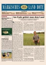 Ausgabe Nr. 4 - Januar 2008 - Märkisches Landbrot
