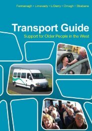 Transport Guide - Support for Older People in the West