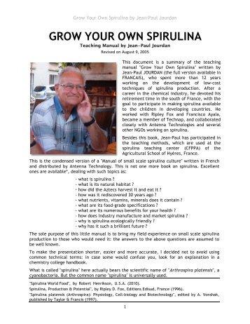 GROW YOUR OWN SPIRULINA - International Algae Competition