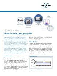 Lab Report XRF 449 Analysis of solar cells using µ-XRF - Bruker