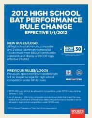 2012 high school bat performance rule change - Illinois High School ...