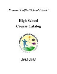 FUSD 2012-2013 High School Course Catalog - Fremont Unified ...