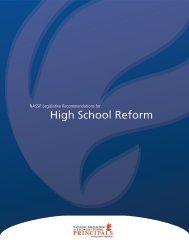 NASSP Legislative Recommendations for High School Reform (pdf)