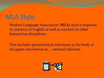 MLA Research Paper - James B. Conant High School