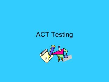 ACT Writing - James B. Conant High School