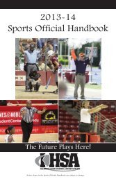 Sports Official Handbook, 2013-14 - Illinois High School Association