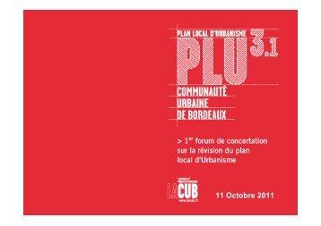 11 Octobre 2011 - Participation de la CUB et de ses communes - La ...