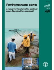 Farming freshwater prawns A manual for the culture of ... - eXtension