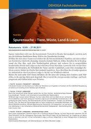 Spurensuche – Tiere, Wüste, Land & Leute - DEHOGA Reisen