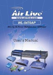 AirLive WL-5470AP User Manual
