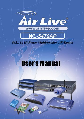 AirLive WL-5470AP User Manual