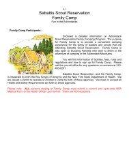 Sabattis Scout Reservation Family Camp Information