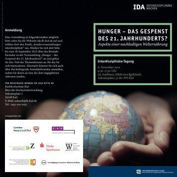 Hunger – dAs gespensT des 21. JAHrHunderTs?