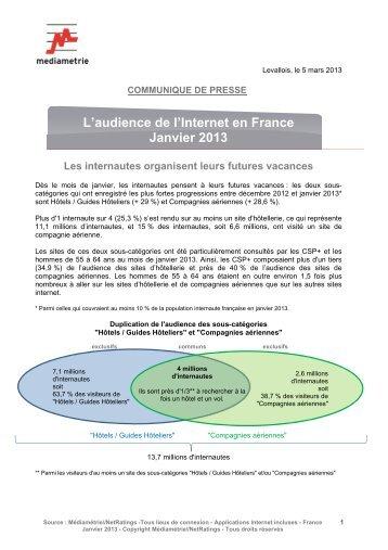 L'audience de l'Internet en France Janvier 2013 - Adequate systems