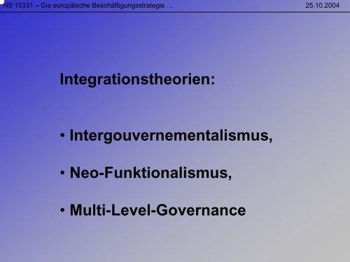Integrationstheorien - Sw-cremer.de