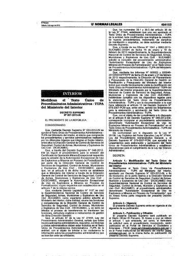 Tupa 2012 for Portal del ministerio del interior
