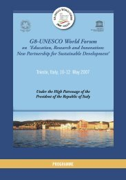 Final Programme - G8-UNESCO World Forum on - ICTP