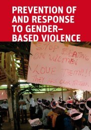 Chapter 10 Prevention of and Response to Gender–based Violence