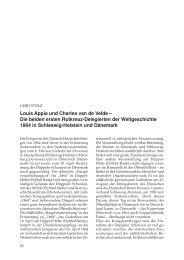 Louis Appia und Charles van de Velde – Die beiden ersten ...