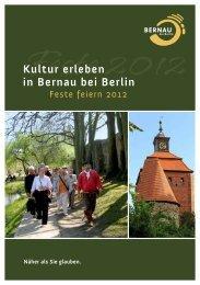 Kultur erleben in Bernau bei Berlin - Bernau LIVE