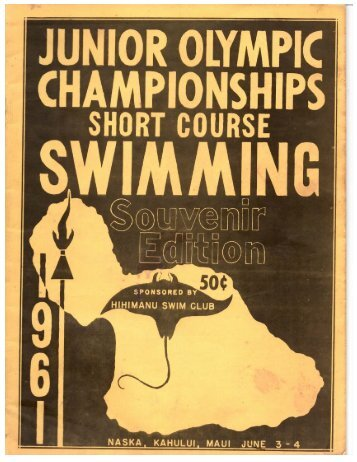 1961 Age Group Short Course Champs - Hawaii Swimming