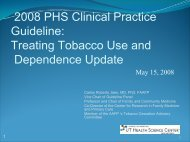 2008 PHS Clinical Practice Guideline - Smoking Cessation ...