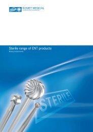 Sterile range of ENT products - Komet Medical