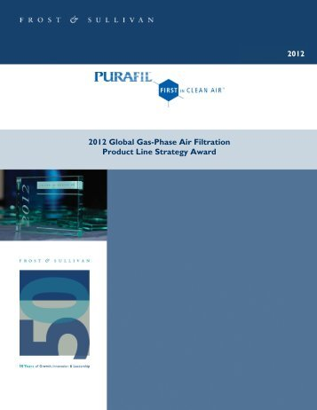 2012 Global Gas-Phase Air Filtration Product Line Strategy ... - Purafil