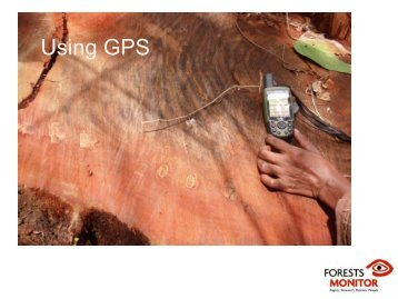 Using GPS - Forests Monitor