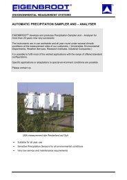 Catalogue Precipitation Collectors and Monitors english