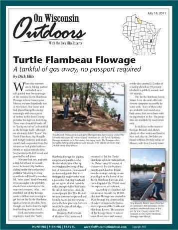 Turtle Flambeau Flowage - On Wisconsin Outdoors
