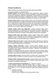 PRODUCTOS MEDICOS - Facultad de Ciencias Naturales