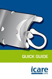 Icare ONE quick guide in English