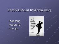 Motivational Interviewing - Addiction Management