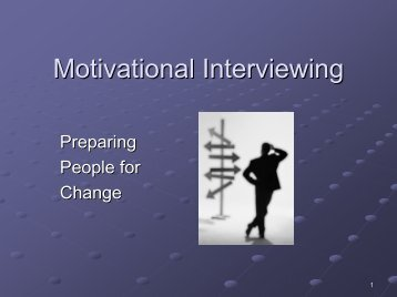 Motivational Interviewing - Addiction Management