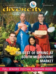 THE bEsT of spring aT souTH mElbournE markET - City of Port Phillip