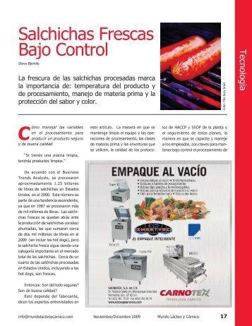 Salchichas Frescas Bajo Control - AlimentariaOnline