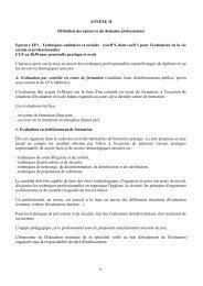 ANNEXE II Définition des épreuves du domaine professionnel - Cndp