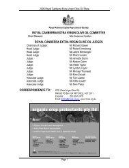 2006 Results - Royal National Capital Agricultural Society