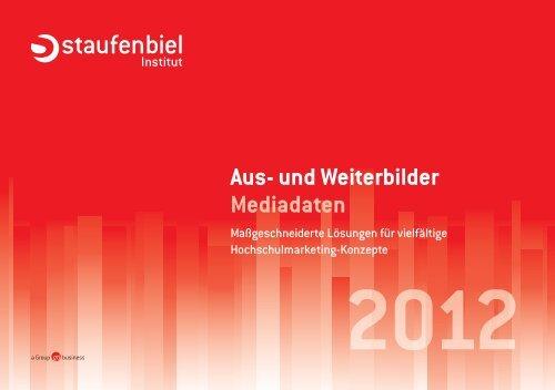 Aus- und Weiterbilder Mediadaten - Staufenbiel.de
