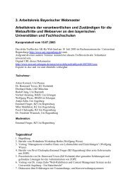 Protokoll vom 10. Juli 2003 - RRZE - Regionales RechenZentrum ...