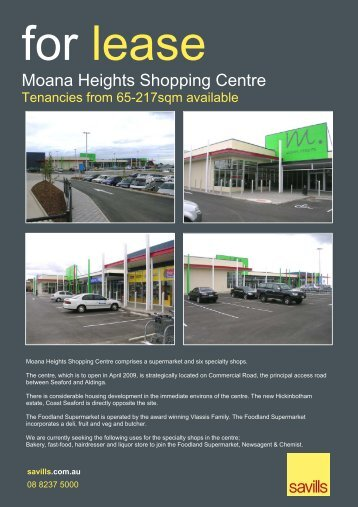 Moana Heights Shopping Centre - Realestate.com.au