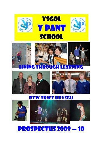 SCHOOL BROCHURE 09-10 - Y Pant School