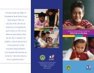 Department of Education Supplemental Services Brochure - Spanish