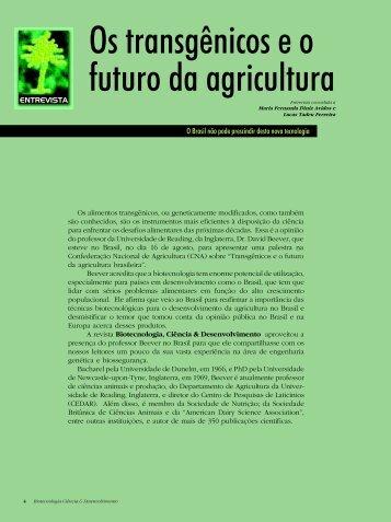 Os transgênicos e o futuro da agricultura - Biotecnologia