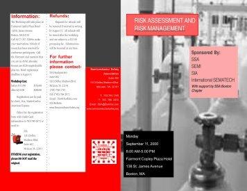 Registration Brochure - Semiconductor Safety Association