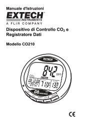 Dispositivo di Controllo CO2 e Registratore Dati - Extech Instruments