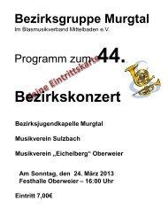 erfahren, Programm anklicken.... - Musikverein