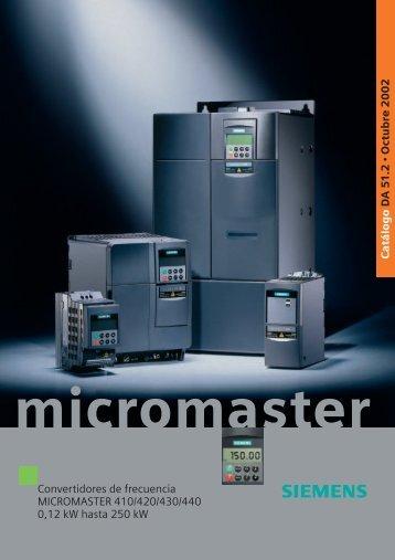 catalogo micromaster variadores de frecuencia