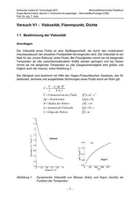Stoffdaten Von Rapsöl Und Diesel Engler Bunte Institut Kit